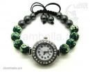 """Часы-браслет в стиле Шамбала """"2 цвета""""(белый и зелёный)"""